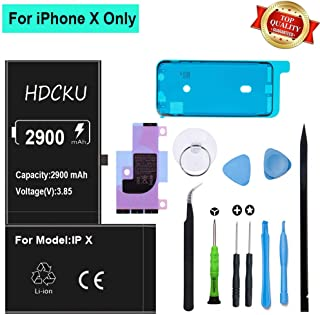 HDCKU Battery Replacement Kit for iPhone X A1865, A1901, A1902 Battery with Full Repair Tool Set