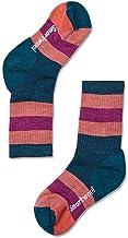 Smartwool Kids' Hiking Crew Socks - Striped, Medium Cushioned Merino Wool Performance Socks