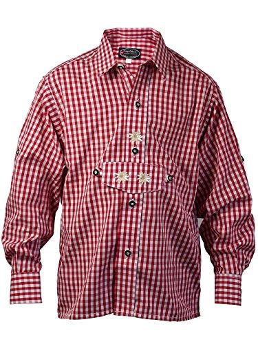 Harrys-Collection Harrys-Collection Jungen Kariertes Trachtenhemd aus 100% Baumwolle, Größen:116, Farben:rot