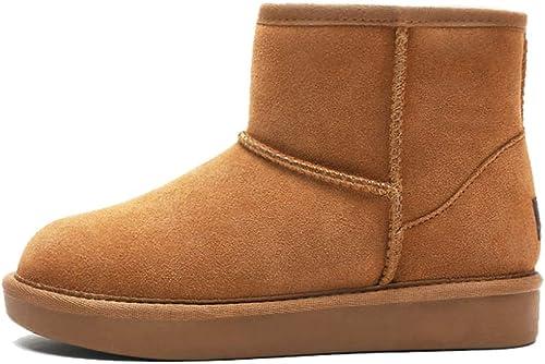 botas Para La mujer botas Para La Nieve botas CáLidas De Invierno botas Desnudas Impermeables Antideslizantes Para Exteriores Del Desierto,Maroon-36