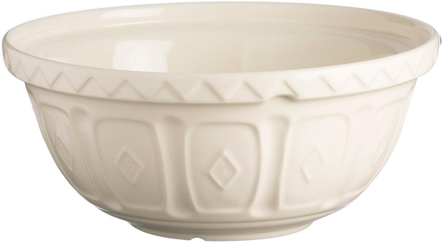 Mason Cash Earthenware Mixing Bowl S12 11 1 2 Inches 4 1 4 Quarts Cream