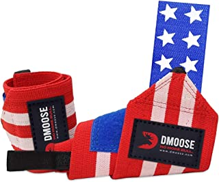 """DMoose Wrist Wraps for Weightlifting - 12"""" and 18"""" Thumb Loops with Wrist Support Braces, Powerlifting, Lifting Wrist Band..."""