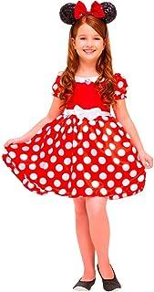 a9ae80c3fe Fantasia Vestido Infantil Minnie Vermelha Clássica Tamanho M - SEM TIARA