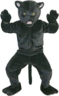 Black Leopard Panther Mascot Costume Cartoon Character Adult Sz Real Picture