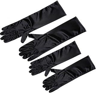 CL 27cm Flora Satin Flower Girl Bridesmaid//Children Long Fingered Fingerless Gloves