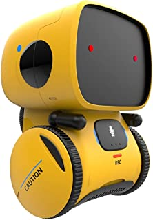 Wonder Gears Smart at Robot - Voice Command, Touch Control, Music and Dancing (Yellow)