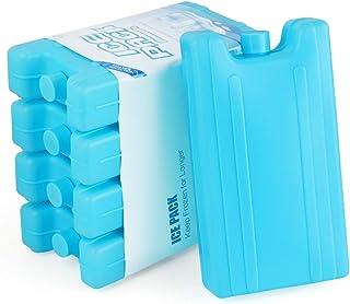 bleu avec accumulateur de froid et chiffon de nettoyage Lot de 6 accumulateurs de froid 400 g Iceblock Pains de glace pour sac isotherme ou glaci/ère