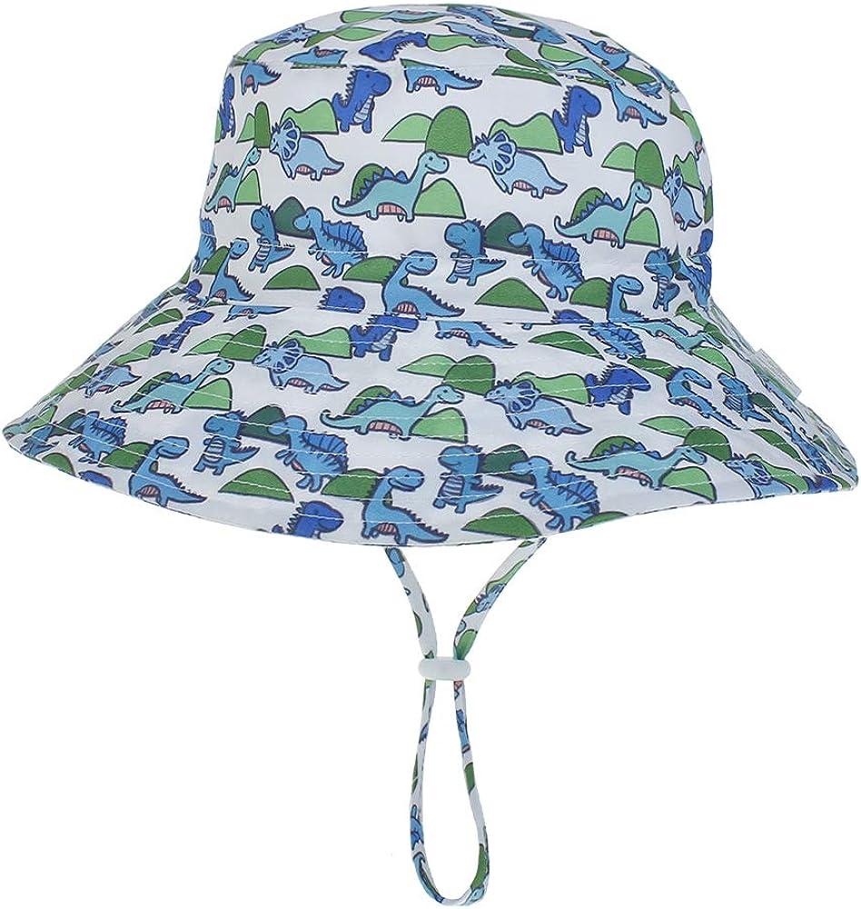 JIAHANG Baby Boy Sun Hat Wide Brim Bucket Hat Beach Cap for Infants Toddlers Kids