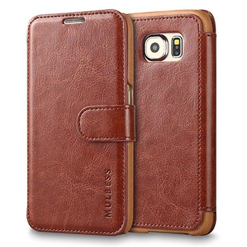 Mulbess Handyhülle für Samsung Galaxy S3 Mini Hülle Leder, Samsung Galaxy S3 Mini Handy Hüllen, Layered Flip Handytasche Schutzhülle für Samsung Galaxy S3 Mini Case, Braun