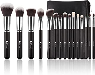 DUcare Makeup Brushes 15 Pcs Makeup Brushes Set Premium Foundation Blending Blush with Cosmetic Bag
