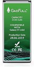 GadFull Batteria compatibile con Samsung Galaxy S5 mini | 2019 Data di produzione | Corrisponde al EB-BG800BBE originale | Compatibile con Galaxy S5 mini SM-G800F | Duos SM-G800H