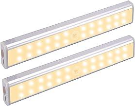 BelonLink Draadloze Onder Kabinet Verlichting, 24 LEDs USB Oplaadbaar Licht, met Intelligente Bewegingssensor Automatische...