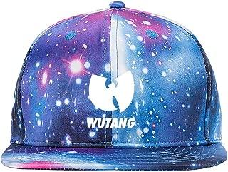RockSmith and Wu Tang Clan Purple Galaxy Snapback Hat Unisex Trucker Hat Hip Hop Plaid Flat Adjustable Baseball Hat