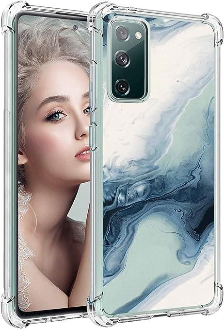 Für Samsung S20 Fe Hülle Silikon Marmor Glitzer Blumen Elektronik