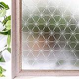 N / A Película de Ventana Impermeable de PVC para el hogar de privacidad Opaca, Etiqueta Adhesiva de Vidrio de Ventana de privacidad de decoración estática 3D sin Adhesivo Z45 60x200cm