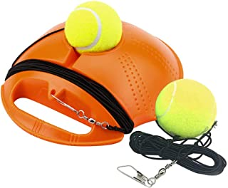 Gowersdee Tennis Trainer Rebounder Ball Cemented Baseboard with Rope Solo Equipment Practice Training Aid Serve Hopper Sport Exercise Base Powerbase Self-Study Rebound Power Base