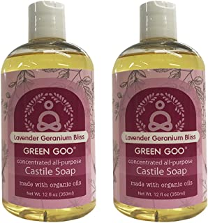 Green Goo All-Natural Skin Care, Castile Wash, Geranium Bliss, 24 Ounce (Pack of 2)