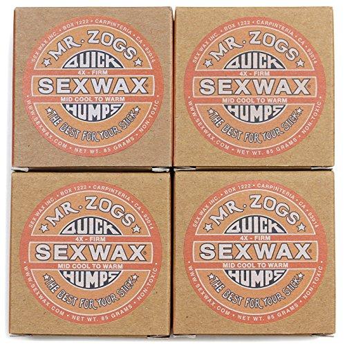 SEXWAX(セックスワックス) ワックス QUICK HUMPS 4X オレンジ 4個セット