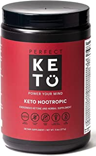Perfect Keto Nootropic Brain Supplement: Enhance Focus and Energy, Boost Concentration, Improve Memory and Clarity - MCTs,...