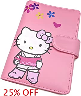 6 Ring Planner Journal Refillable Diary Organizer PU Leather A6 Personal Size Pink Hello Kitty