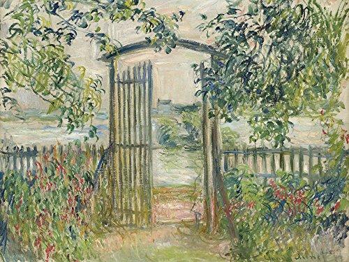 Artland Alte Meister Wandbild Claude Monet Das Gartentorn Vetheuil Leinwand Bilder 45 x 60 cm Kunstdruck Gemälde Impressionismus R1RD