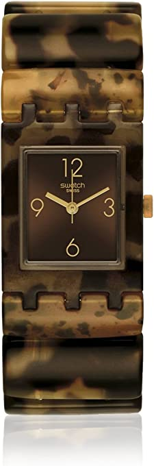 Swatch Women's SUBC101B Manouria S Year-Round Analog Quartz Brown Watch