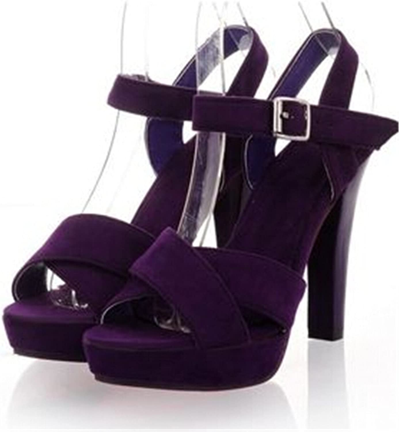 Ladiamonddiva Sandals Pumps high Heel Sandals Fashion Women Dress Sexy shoes Slippers EUR Size 34-43 Purple 12