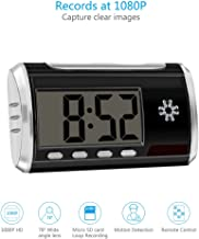 HD Spy Camera Clock Hidden Camera Loop Video Recorder Motion Activated Mini Home Security Camera [8GB Micro SD Card included ]
