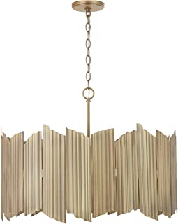Capital Lighting Fixtures 333441AD Xavier 4 Light 27 inch Aged Brass Pendant Ceiling Light