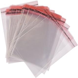 color transparente 6 x 10 = 15cm x 25cm autoadhesivas sello pl/ástico OPP Bolsas de celof/án para guardar accesorios y ropa 100 unidades perfecto para FBA