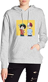 My Hero Academia Midoriya Izuku Deku Todoroki Shoto Hoodies Sweatshirt Adult Pullovers for Women