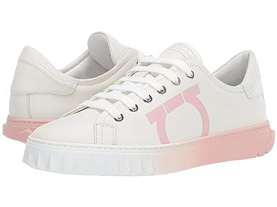 Salvatore Ferragamo Cube 8 Logo Low Top Sneaker (White Intense Swilly Calf) Women