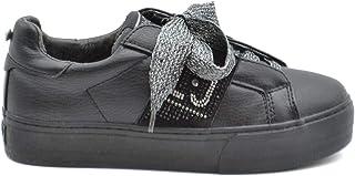 Luxury Fashion | Pinko Women MCBI37738 Black Leather Sneakers | Season Outlet