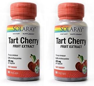 Solaray Tart Cherry - 425 mg - 90 Vegetarian Capsules - 2pc