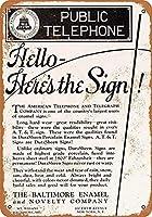 公衆電話ブリキ看板ヴィンテージ錫のサイン警告注意サインートポスター安全標識警告装飾金属安全サイン面白いの個性情報サイン金属板鉄の絵表示パネル