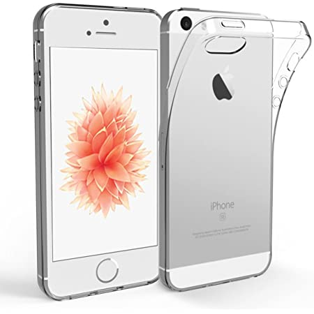 NEW'C Coque Compatible avec iPhone 5 et iPhone 5S et iPhone Se, Ultra Transparente Silicone en Gel TPU Souple Housse Etui Coque de Protection avec Absorption de Choc et Anti-Scratch