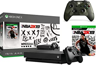 Microsoft Xbox One X 1TB NBA 2K19 Bundle + Armed Forces II (Special Edition) Wireless Controller | Include:Xbox One X 1TB ...