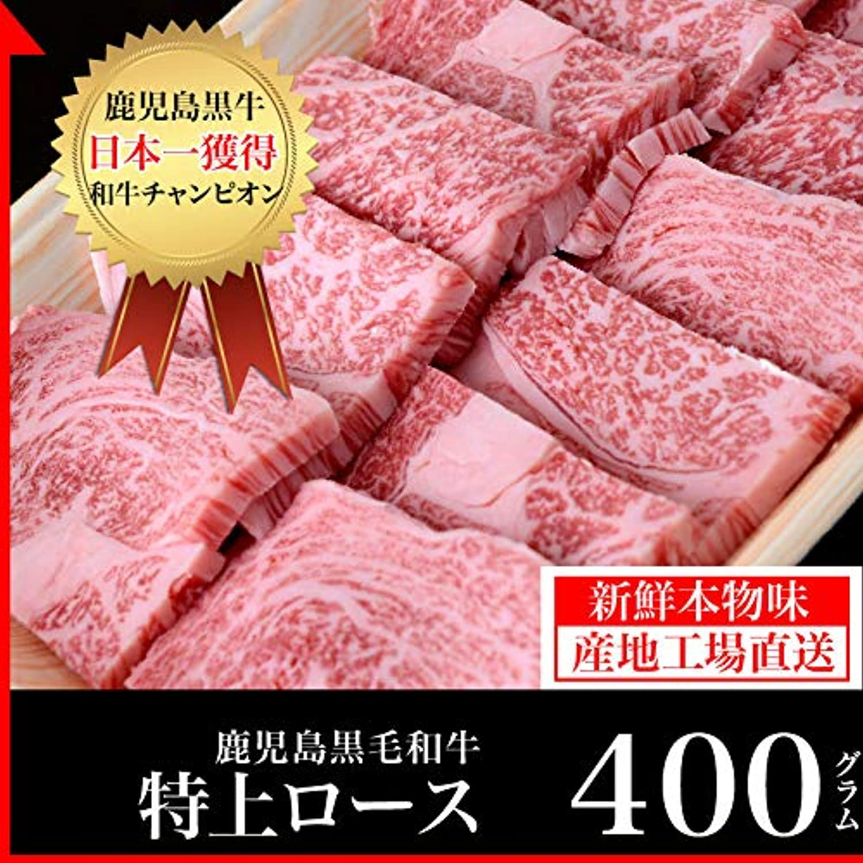 鹿児島黒毛和牛 焼肉用特上ロース スライス 400g /高級 パティ 誕生日 結婚記念 記念(kagoshimabeef)