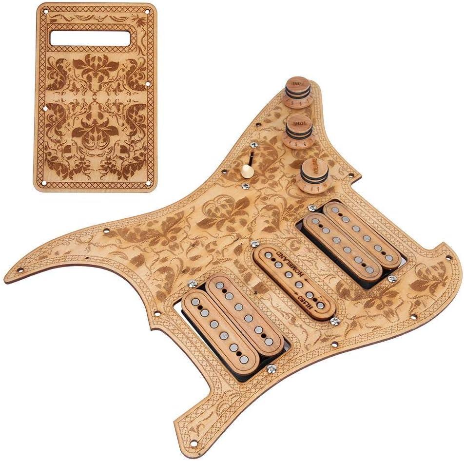 2 Humbucker New Shipping Free Pickups Electric Ranking TOP14 Guitar Wear-Re Maple Wood Pickguard