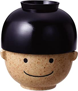 サンアート かわいい食器 「 まんぷくシリーズ こども 食器(磁器と木) 」 男の子 汁椀・茶碗 セット 350g 大 SAN1596-B