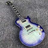 YYYSHOPP Guitars & Gear - Guitarra eléctrica de 6 cuerdas, cuerpo de caoba con parte superior de arce y pintura púrpura degradada (color: guitarra, tamaño: 41 pulgadas)