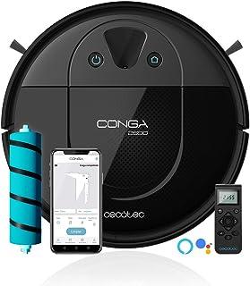 Cecotec Robot Aspirador y Fregasuelo Conga 2690. Tecnología iTech Camera 360, friega, aspira y Barre a la Vez, App, Limpie...