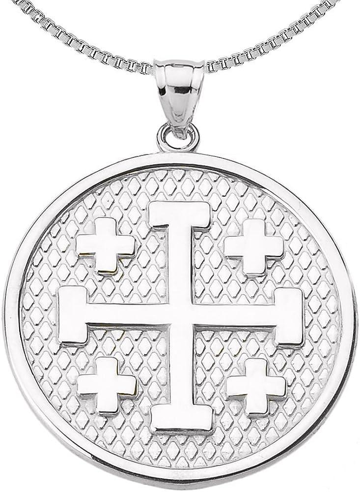 Religious Jewelry by Ranking TOP18 FDJ Engravable Cross Pendant Jerusalem Neck Fresno Mall