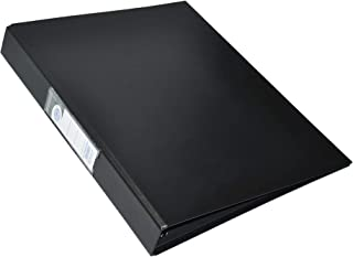 FIS PP Ring Binders, 4 Ring, 25 mm, Black Color, A4 Size - FSBDD4PPA4BK