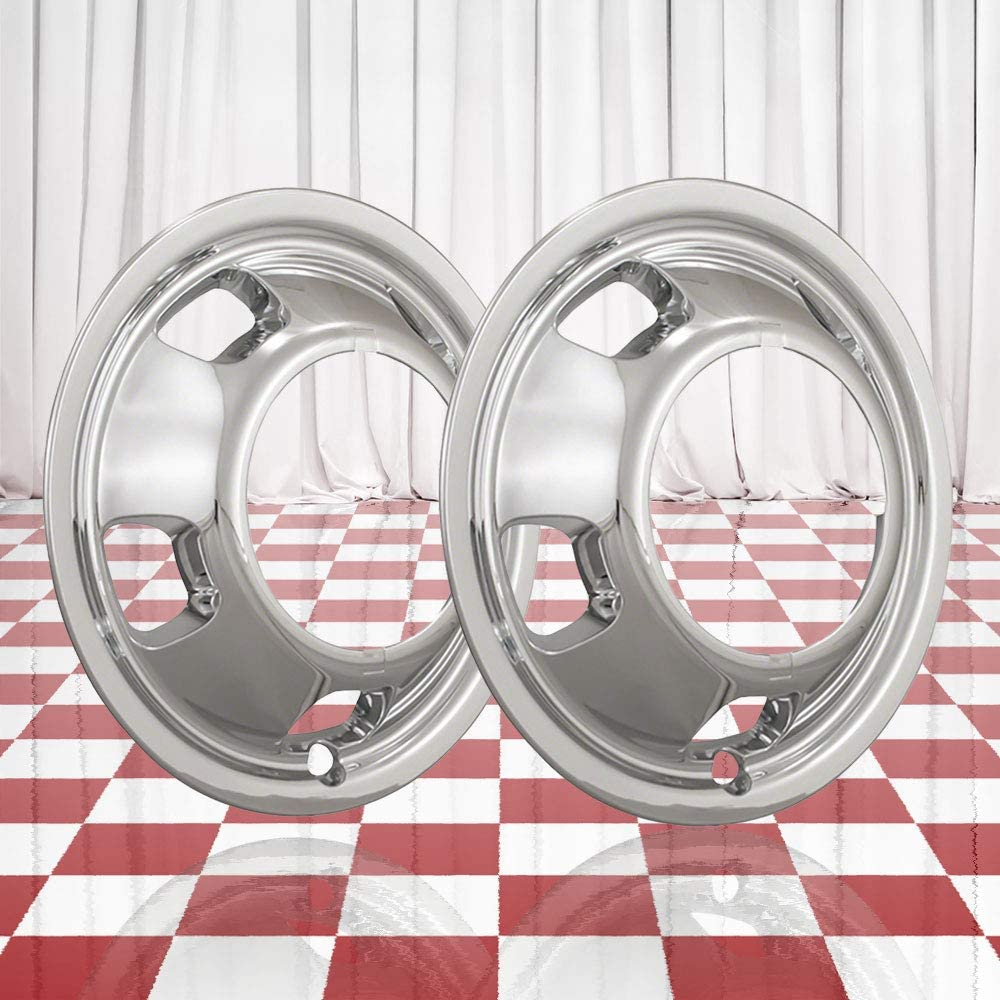 Brighter Luxury Design Set of 2 Front Chrome Hand Simu Max 68% OFF Hole Wheel 5 17