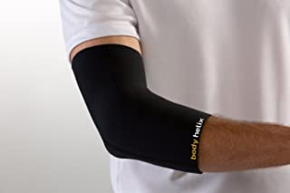body helix Elbow Compression Sleeve - Full Elbow Compression – Elbow Brace For Tendonitis – Soft Elbow Support For Tennis Elbow, Forearm Pain, Arthritis, Ulnar Nerve, Weightlifting, Men, Women, Adults