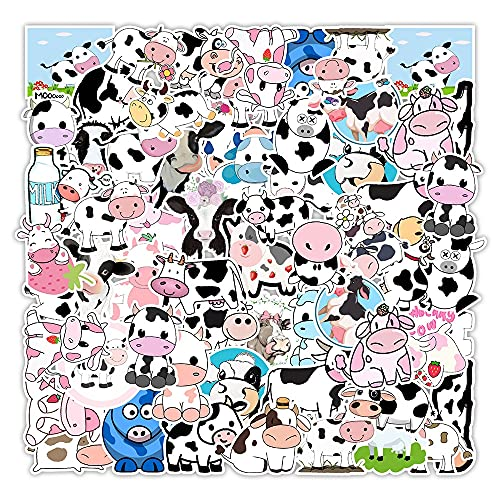 Lindas Vacas Animales Pegatinas de Dibujos Animados para portátil monopatín Equipaje Nevera calcomanías Graffiti Pegatinas 50 Uds