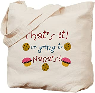 CafePress That's It! I'm Going To Nana Natural Canvas Tote Bag, Reusable Shopping Bag