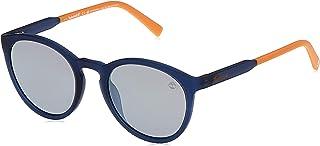نظارات شمسية معدنية بعدسات مستقطبة للرجال من تيمبرلاند - (ازرق مطفي ورمادي)