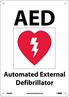 NMC M609RB Emergency and First Aid Safety Sign with Graphic,